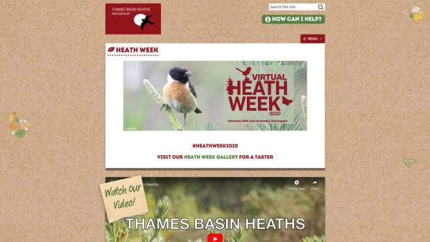 Screen Capture of Thames Basin Heaths Partnership