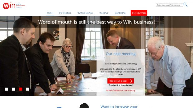Screen Capture of Woking Independent Network